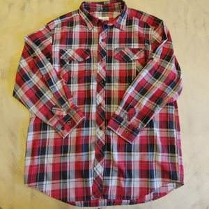 Columbia Mens Button Up Flannel